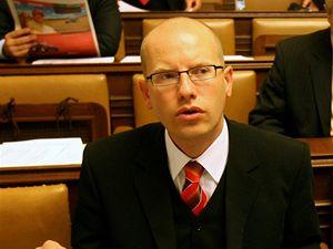 Bohuslav Sobotka v poslanecké sněmovně.
