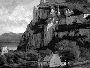 Skála v Hauterpierre-Mouthier, 1860. Gustav Courbet.
