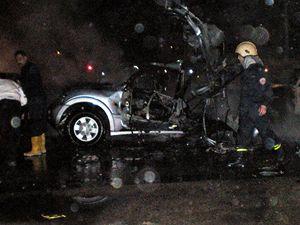 Místo atentátu. Výbuch bomby zabil jednoho z nejhledanějších teroristů Imáda Mugníja.