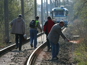 Rekonstrukce tramvajové nehody v Ostravě.