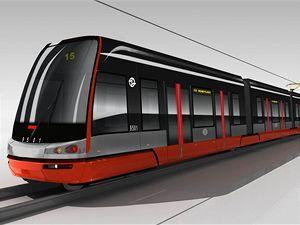 Tramvaj 15T - červenočerná