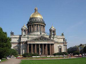 Největší petrohradská katedrála svatého Izáka.