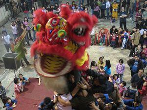 Drak je hlavní postavou oslav čínského nového roku v Indii.