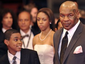 Mike Tyson s rodinou.
