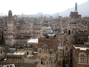 CENTRUM hlavního města Sana'a.