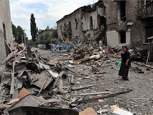 Rozbombardovaná Gruzinská ulice