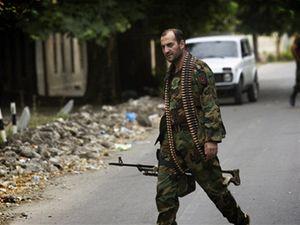 Jeden z gruzínských vojáků