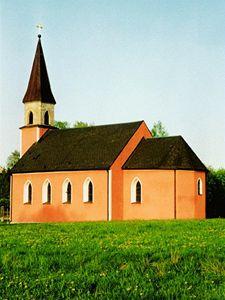 Dálniční kaple v německém Waidhaus nedaleko hraničního přechodu Rozvadov.