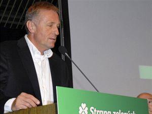Místopředsedkyně zelených Dana Kuchtová a předseda zelených Martin Bursík na sjezdu Strany zelených, který začal 5. září v Teplicích.