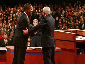Barack Obama a John McCain v televizní debatě