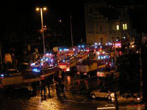 V Průmyslovém paláci na holešovickém výstavišti propukl 16. října večer požár.