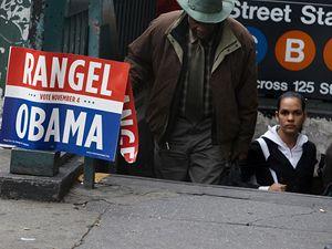 Harlem v předvečer prezidentských voleb.
