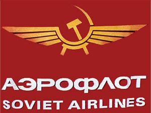 Původní sovětské logo Aeroflotu. To nynější se liší jen modrou, místo rudé barvy.