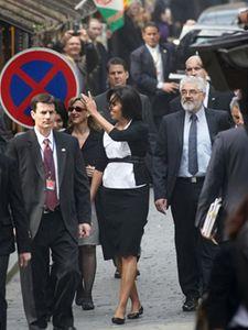 Michelle Obamová při návštěvě židovského města.