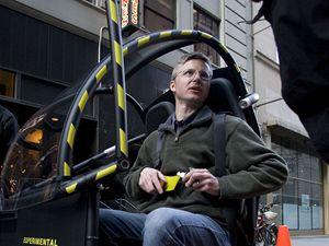 Nov� m�stsk� voz�tko firmy Segway p�edstavila spole�nost v ulic�ch New Yorku.