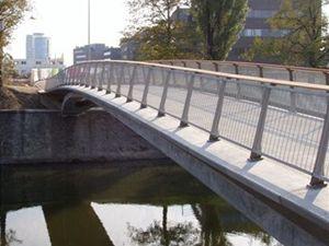 Mostní stavbou roku 2007 je i pěší lávka v Brně přes řeku Svratku.