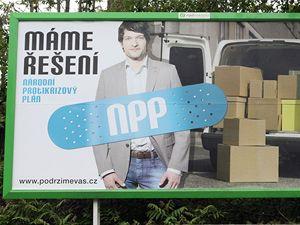 Billboard vládní kampaně NERVu.