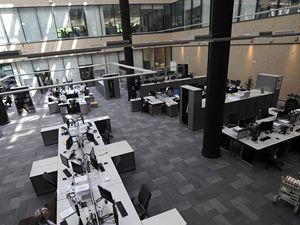 Na Hagiboru v Praze slavnostně otevřena nová budova rozhlasové stanice Svobodná Evropa (RFE/RL).