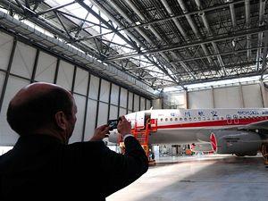 První letadlo Airbus smontované v Číně dnes uskutečnilo svůj první hodinový let.