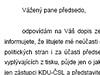 Korespondence mezi ODS a ČSSD - druhá odpověď Jiřího Paroubka