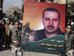 Tryzna za zabitého představitele radikální složky hnutí Hamas Kasám Mahmúda Mabhúha