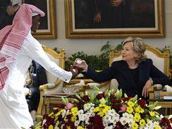 Hillary Clintonová v Saúdské Arábii