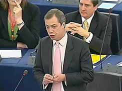 Nigel Farage v Evropském parlamentu