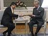 Premi�r Jan Fischer se v Lichten�tejnsk�m pal�ci v Praze kr�tce setkal s princem Charlesem z Walesu.