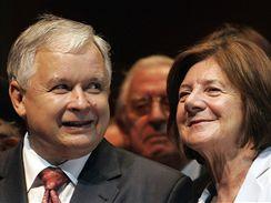 Lech Kaczyński s manželkou Marií