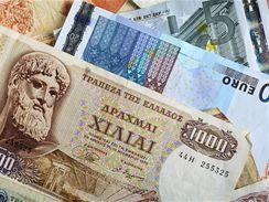 Řecká drachma a euro