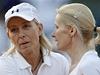 Martina Navrátilová s Janou Novotnou po vítězném zápase na French Open