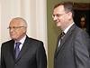 Petr Ne�as informoval prezidenta o pr�b�hu koali�n�ho vyjedn�v�n�.
