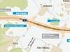 Mapa jižní části Pražského okruhu - úsek 513
