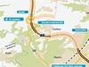 Mapa jižní části Pražského okruhu - úsek 514
