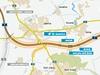 Mapa jižní části Pražského okruhu - úsek 512