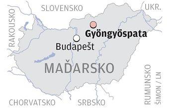 Mapa ukazuje město, kde se neonacisté pobili s Romy