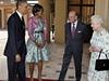 První pár USA na návštěvě u britského královského páru