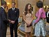 Manželé Obamovi při setkání s britským královským párem