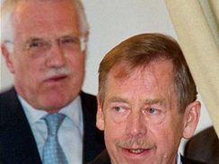 Václav Havel a Václav Klaus