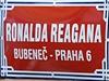 Praha má ulici pojmenovanou ulici po Ronaldu Reaganovi