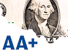 Snížení ratingu USA - grafika