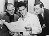 Mike Stoller, Elvis Presley a Jerry Leiber na fotografii z roku 1957
