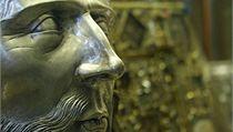 Svatovítský poklad - zlatá busta sv. Václava