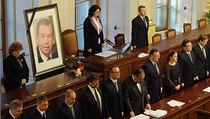 Václav Havel promluvil ze záznamu k poslancům