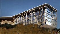 Návrh přestavby Labské boudy od Tadeáše Kopči