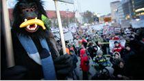 Na protesty Gorila v Bratislav� se se�ly tisíce lidí. 3.2.2012  | na serveru Lidovky.cz | aktu�ln� zpr�vy