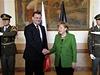 Premiér Nečas přijal kancléřku Merkelovou