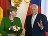 Angela Merkelová u Václava Klause