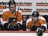 Philadelphia Flyers (zleva Simmonds, Schenn, Read) | na serveru Lidovky.cz | aktu�ln� zpr�vy