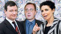Protikorup�n� policie obvinila Davida Ratha, Petra Kotta a Kate�inu Pancovou.